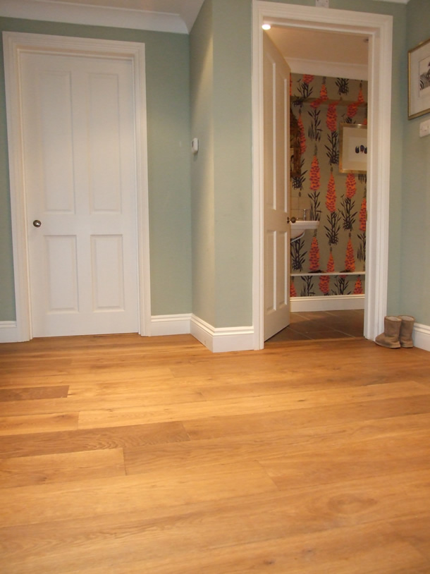 01 Fumed oak planks for a farmhouse in Haslemere, Surrey