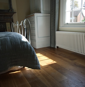 Distressed and smoked French oak for an Edwardian House in Farnham, Surrey