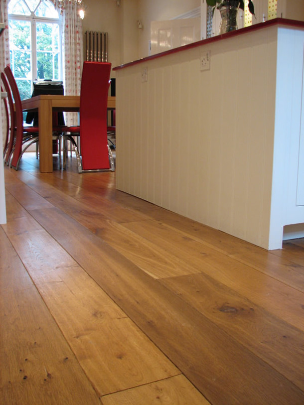 01 Distressed and smoked French oak planks for an Edwardian House in London, W1