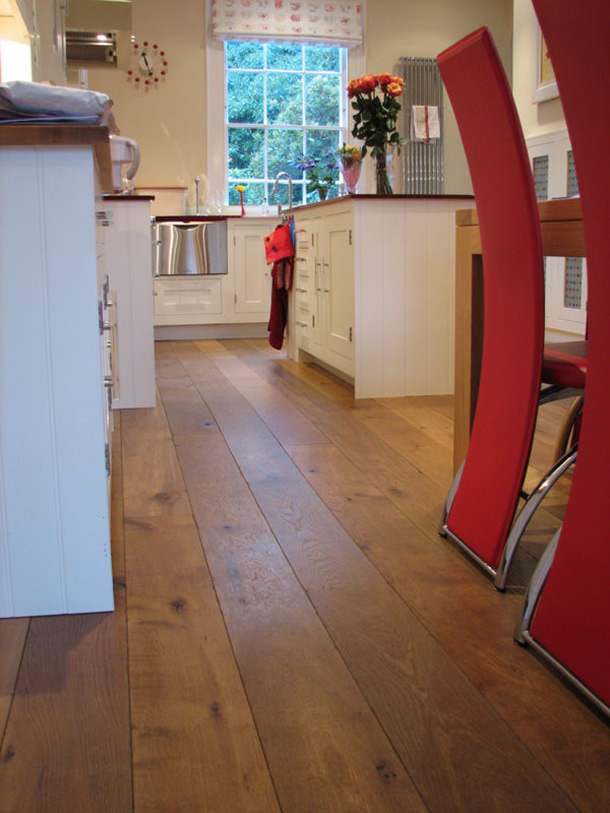 02 Distressed and smoked French oak planks for an Edwardian House in London, W1