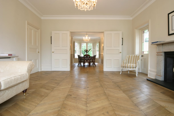 02 Hungarian point parquet for an Edwardian House in Guildford, Surrey