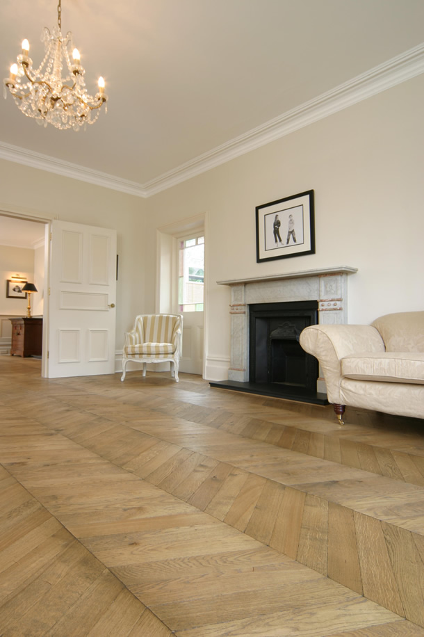 03 Hungarian point parquet for an Edwardian House in Guildford, Surrey