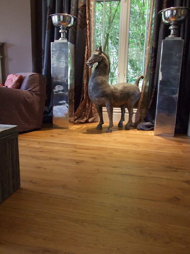 01 Reclaimed French oak boards for a house in Haslemere, Surrey
