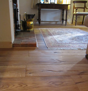 Cabin oak wood floors for a house in Farnham, Surrey