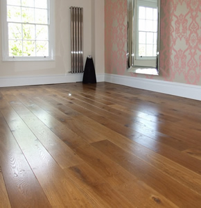 Distressed smoked oak for an Edwardian house in Fulham, London