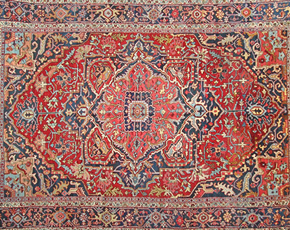 A555 Antique Heriz Carpet
