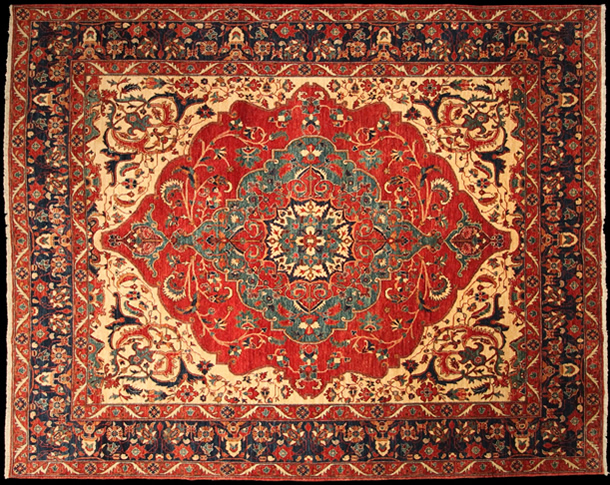 01 B1918 Contemporary Heriz Design Carpet