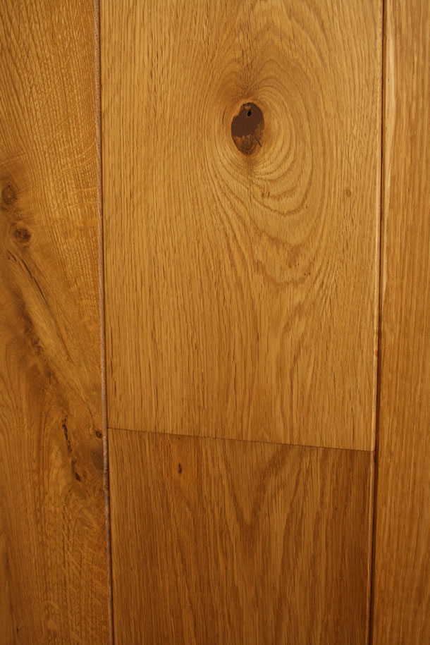 02 Semi Solid Rustic French Oak Clean Face and Bevelled Edge Smoked Planks With Natural Wax Oil