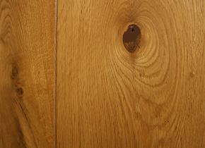 Semi Solid Rustic French Oak Clean Face and Bevelled Edge Smoked Planks With Natural Wax Oil