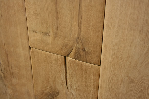 01 Solid Rustic French Oak Hand Scraped Planks